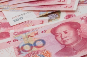 Chinese currency - hundren yuan background